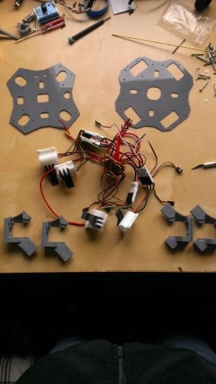 Frame before assembly