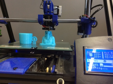 Printing a tea cup and a 3D scanned kid